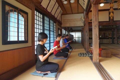 第1回お寺でボードゲーム:朝課